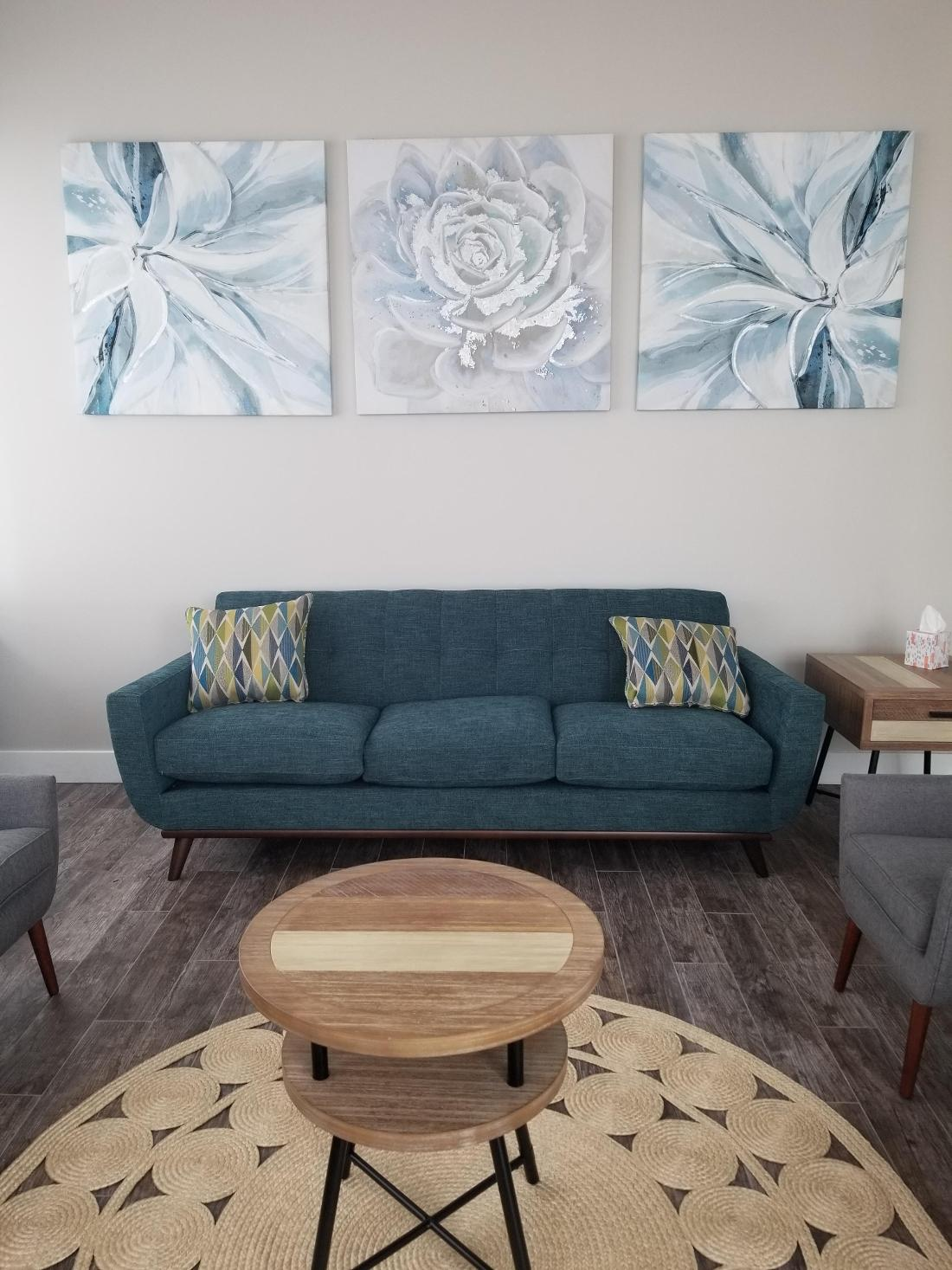 Comfortable Seating in Waiting Room | Pure Dental Studio | Houston, TX
