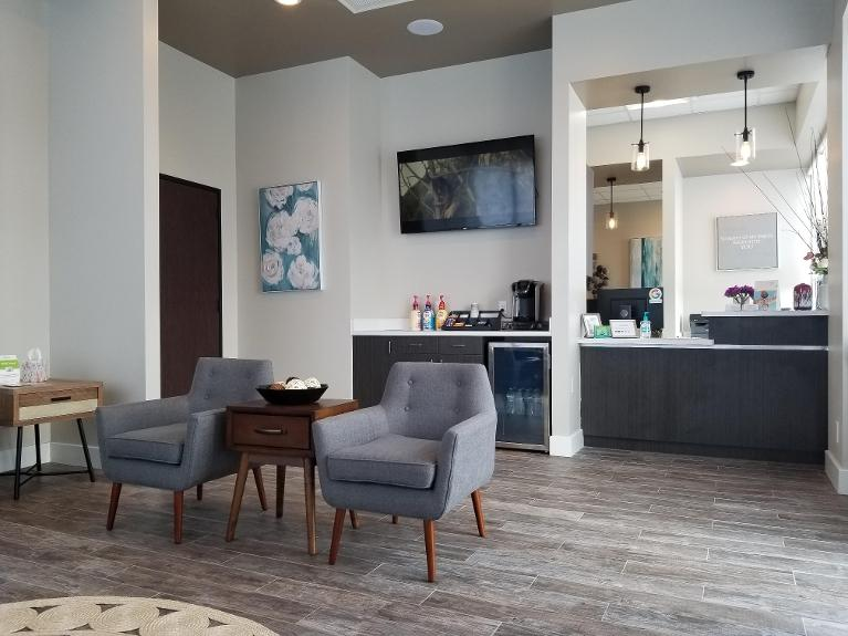 Refreshments in the Waiting Room | Pure Dental Studio | Houston, TX